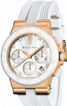 New Bvlgari Diagono 18k Rose Gold Chronograph Automatic 37mm Watch DGP37WGCVDCH/8