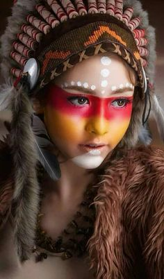 What Can Native American Culture Teach Us about Survival and. American Indian Girl, Native American Girls, Native American Beauty, American Indians, Native American Face Paint, Red Indian, Native Indian, Native Art, Tribal Makeup
