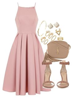 """""""Untitled #1019"""" by manoella-f on Polyvore featuring Chi Chi, Yves Saint Laurent, Gianvito Rossi, Forever 21, Ariella Collection, Kate Spade and Cartier"""