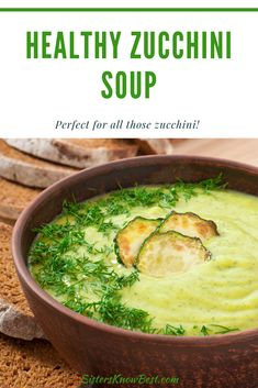 Healthy Zucchini soup recipe that will make you feel like you are cheating! Sauteed Zucchini Recipes, Zucchini Soup, Healthy Zucchini, Healthy Food, High Protein Vegetarian Recipes, Healthy Dessert Recipes, Clean Eating Recipes, Delicious Recipes, Paleo