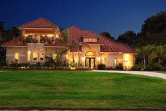 I love red tile roofs & stucco styles... beautiful... almost like a Spanish Villa