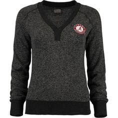 Alabama Crimson Tide Women's Forest Raglan Sweater - Charcoal - $41.99