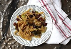 Fettuccine with Brussels Sprouts, Cranberries, and Caramelized Onion ...