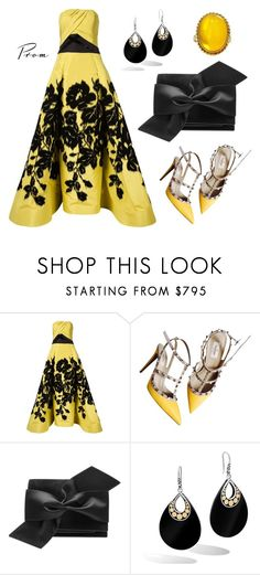 """Canary"" by leiastyle on Polyvore featuring Carolina Herrera, Valentino, Victoria Beckham and John Hardy"