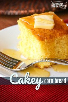 This easy Cake Mix Cornbread is a perfect cross between a cake and cornbread. The texture is fluffy and smooth but has that yummy cornbread taste! This Cake Mix Cornbread recipe is so good! The cornbr Cupcakes, Cupcake Cakes, Bagels, Croissants, Biscuits, Sweet Cornbread, Jiffy Cornbread And Cake Mix Recipe, Cornbread Mix, Mexican Cornbread