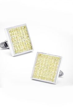 Most Expensive Cufflinks in the World TOP 10 N10. Jacob & Co. Canary Diamond Square Cufflinks $35,000