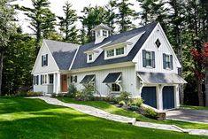 Black shake roof, Lepage windows