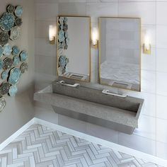 Guide: Saving Space in ADA Compliant Bathroom Design from Bradley Corporation USA Ada Bathroom, Bathroom Towel Decor, Bathrooms, Bathroom Design Luxury, Bathroom Design Small, Commercial Bathroom Ideas, Small Bathroom Shelves, Medical Office Design, Restroom Design