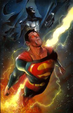 Batman & Superman: Heroes // artwork by Nick Runge (2012)