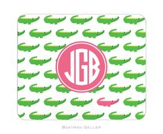 Pea Pod Paper and Gifts Alligator Repeat Personalized Mouse Pad - Office Collection - Gifts