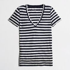 J.Crew Factory - Factory layering V-neck tee in stripe