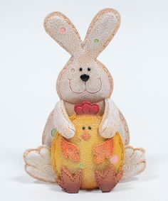 This Bunny & Chick Figurine by GANZ is perfect! #zulilyfinds
