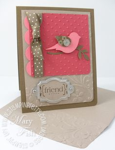 Stampin up elegant bouquet embossing folder