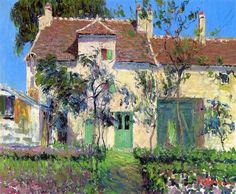 "wonderingaboutitall: ""The Garden Behind The House - Gustave Loiseau """