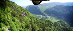 Need4Speed: Tree Lines by Phoenix Fly. JeanNoel and Robert fly their V4 (wingsuit) through the beautifull French landscape.