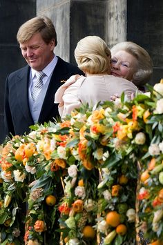 Crown Prince Willem-Alexander & Crown Princess Máxima after the abdication of Queen Beatrix on April 30th 2013.