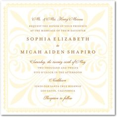 Signature White Textured Wedding Invitations Traditional Talavera: Rust