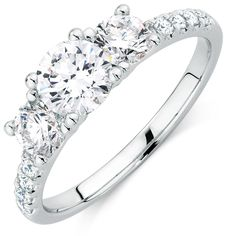 1 1/2 Carat TW Diamond Three Stone Ring