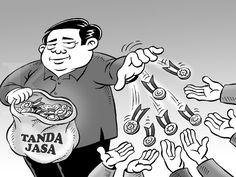 Kartun Benny, Kontan - Oktober 2014: Bagi-bagi Tanda Jasa Di Akhir Masa Jabatan
