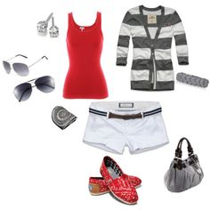 Love the outfit not crazy bout all of these accessories but some are cute!