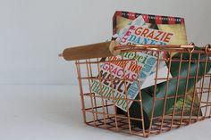 Copper Wire Basket