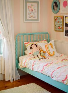 Ideas for a Girls Bedroom, Cute Bedroom Ideas for Girls Teenagers, Bedroom Decor Girl, Room Decor Girls Girls Bedroom, Big Girl Bedrooms, Little Girl Rooms, Bedroom Decor, Bedroom Ideas, Style Me Pretty Living, House Of Turquoise, Turquoise Bed, Light Turquoise