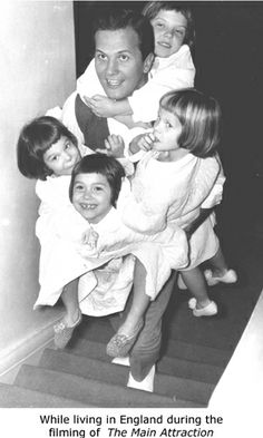 Pat Boone and his four daughters