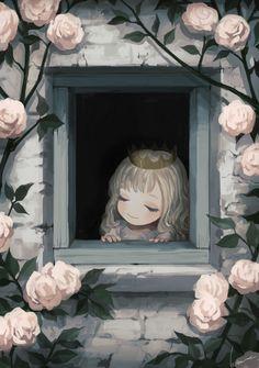 Kawaii Anime Girl, Anime Art Girl, Manga Art, Princess Illustration, Illustration Art, Dark Fantasy Art, Fantasy Artwork, Cute Cartoon Wallpapers, Animes Wallpapers