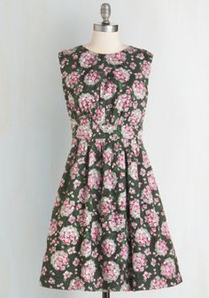 Too Much Fun Dress in Hydrangeas. Theres no such thing as overloading on fun, but if it were possible, why not go all-out in this adorable sleeveless dress? #multi #modcloth