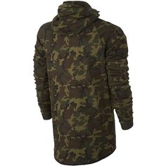 Nike Tech Camo Fleece Hoodie Men's (770 BRL) ❤ liked on Polyvore featuring mens and men's clothing