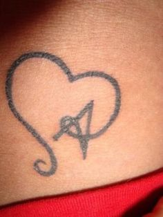 Heart Tattoo. Cute idea for my tat for Aaden. I've got the girls figured out…