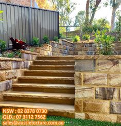 Ranch Split Block with Rockface. Amazing job by ? Sandstone Cladding, Sandstone Wall, Natural Stone Wall, Natural Stones, Landscape Design, Garden Design, House Design, Sutton House, Garden News