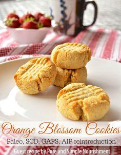 Orange Blossom Cookies by Pure and Simple Nourishment (Paleo, SCD, GAPS, AIP reintroduction) // TheCuriousCoconut.com