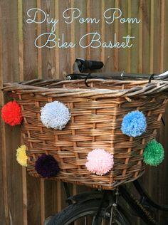 DIY Pom Pom Bike Basket - I need to add some pom poms to my basket!