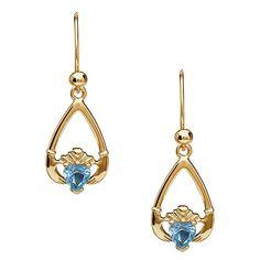 df4ac6161 March Birthstone Claddagh Earrings - Aquamarine. Celtic RingsIrish JewelryJeweled  ShoesAquamarine StoneAmethystIrish ...