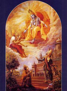 The Life of a Text: Bhagavad-gita Through the Centuries Krishna Lila, Krishna Art, Radhe Krishna, Lord Krishna Images, Krishna Pictures, Bhagavad Gita, Krishna Avatar, Indian Paintings, Abstract Paintings