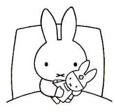 Miffy Hugging The Doll Pocket Edition, Miffy, Illustrations, Black Bear, Coloring Pages For Kids, Svg Cuts, Hello Kitty, Doodles, Beer