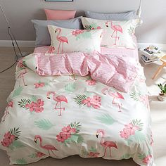 Duvet Cover Sets Animal 4 Piece Pure Cotton Reactive Print Pure Cotton (If Twin size, only 1 Sham or Pillowcase)