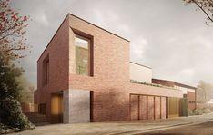 Private House, Hampstead by Stanton Williams Brick Architecture, Minimalist Architecture, Residential Architecture, Interior Architecture, Hampstead House, Hampstead Village, Hampstead London, Stanton Williams, Fenton House
