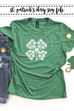 Celebrate St. Paddy's Day with a DIY shirt using this fun SVG file from Everyday Party Magazine #Shamrock #StPaddysDay #SVGFile
