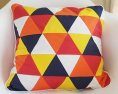 Triangle Patchwork Cushion Cover