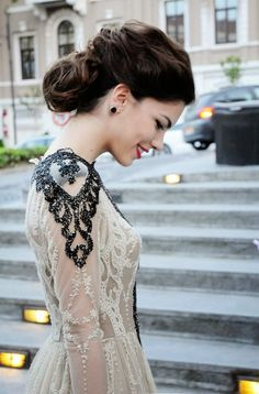 Embellished glamorous lace dress