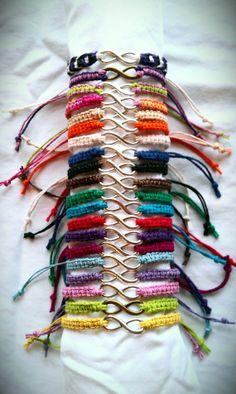 infinity bracelet hemp macrame friendship by PeaceLilyCreations, $4.75