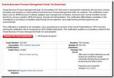 Business Process Management Suite 12c Essentials Exam is available