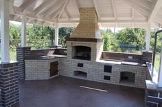 """Awesome """"outdoor kitchen designs layout patio"""" information is offered on our site. Check it out and you wont be sorry you did. Small Backyard Patio, Backyard Kitchen, Outdoor Kitchen Design, Parrilla Exterior, Outdoor Barbeque, Brick Bbq, Backyard Makeover, Outside Living, Cuisines Design"""