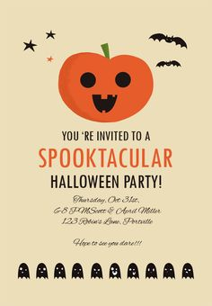 Trick Or Treat Halloween Party Invitation  Halloween