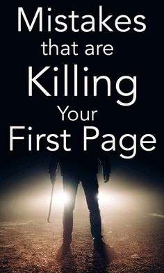 The first page is the introduction to your entire novel. Create an effective first page by avoiding these writing mistakes Writing Genres, Book Writing Tips, Writing Characters, Writing Words, Fiction Writing, Writing Resources, Writing Fantasy, Writers Notebook, Creative Writing Prompts