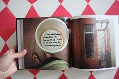 Instagram photos in a bound book with notes handwritten right on the pages -- LOVE! (via http://eliseblaha.typepad.com)