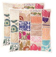 "Handmade Khambodia Patchwork Indian Cushion Cover Decor Pillow Case 16"" 2 Pcs #Handmade #ArtDeco Sofa Cushion Covers, Cushions On Sofa, Pillow Covers, Patchwork Cushion, Embroidered Cushions, Linen Pillows, Decorative Pillows, Throw Pillow Cases, Throw Pillows"