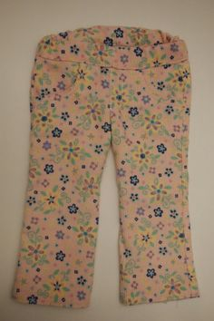 Pink Floral Corduroy Jeans by LiasDollBoutique on Etsy
